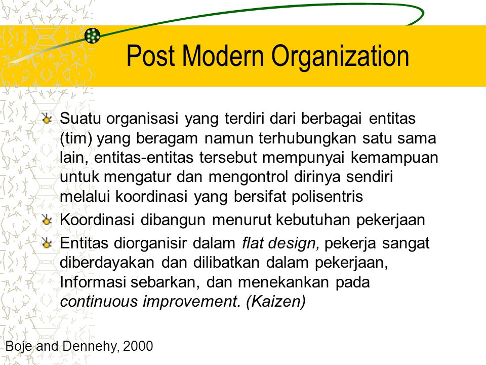 Post Modern Organization