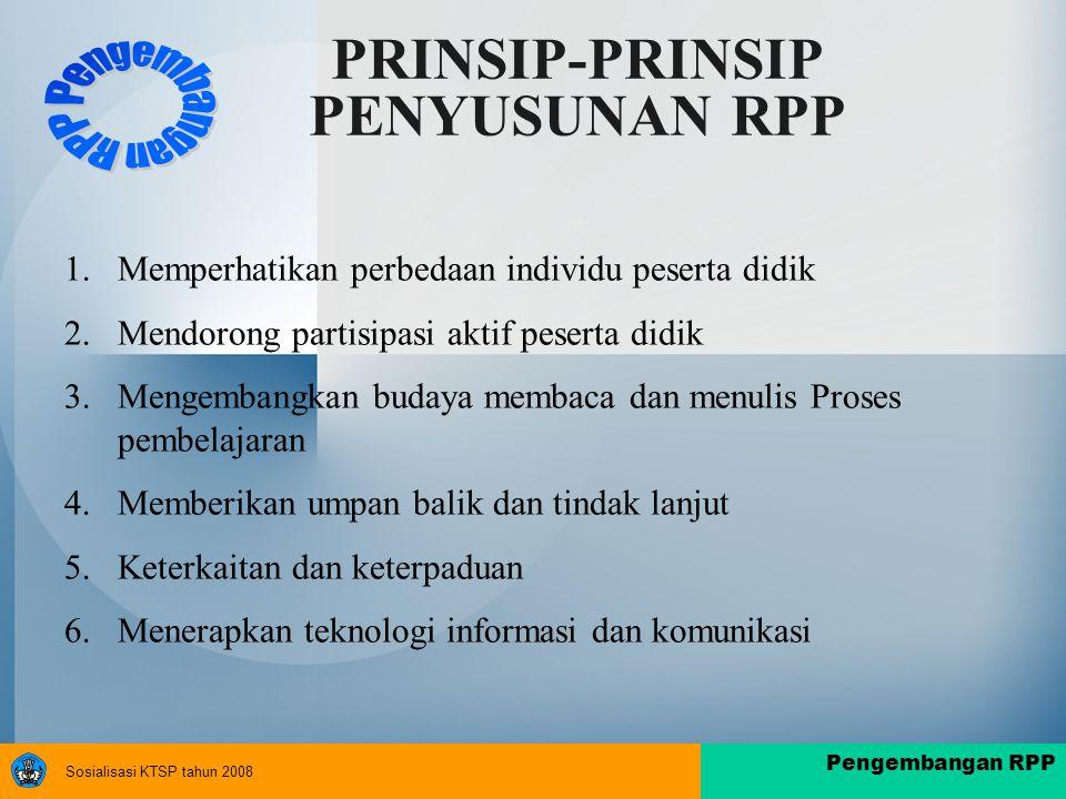 PRINSIP-PRINSIP PENYUSUNAN RPP