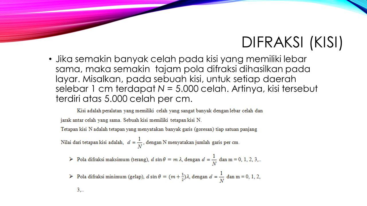 Difraksi (Kisi)