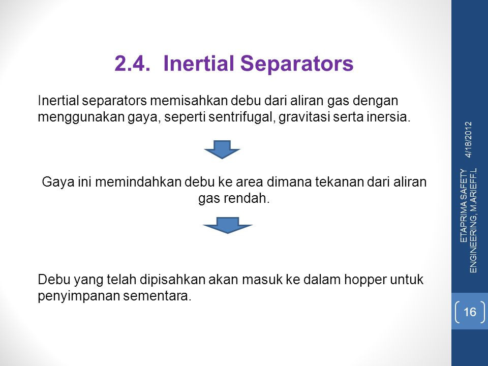 2.4. Inertial Separators