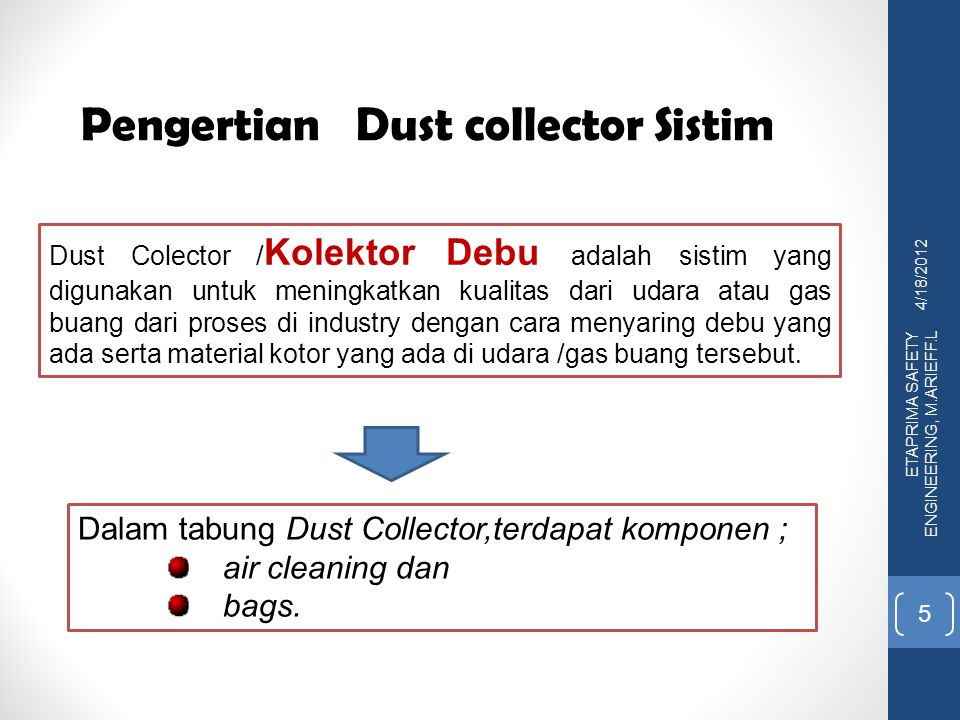 Pengertian Dust collector Sistim