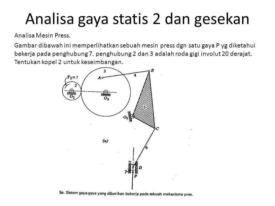 Analisa gaya statis 2 dan gesekan