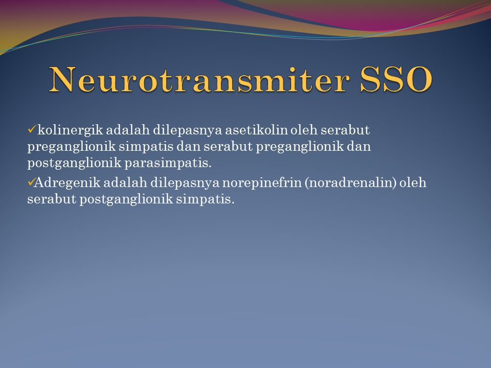 Neurotransmiter SSO