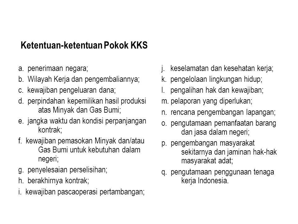 Ketentuan-ketentuan Pokok KKS