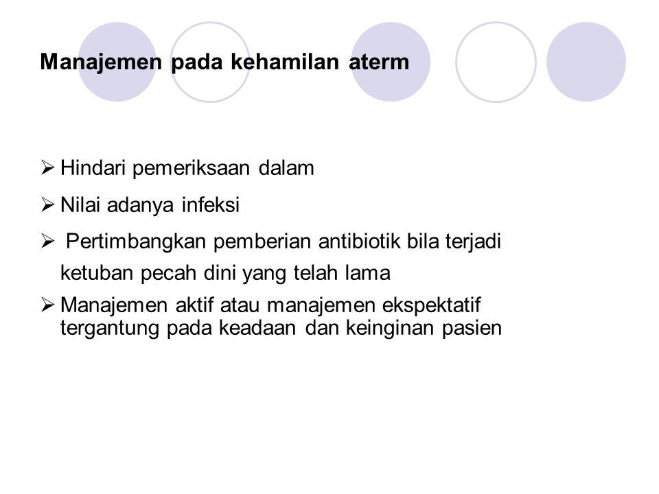 Manajemen pada kehamilan aterm