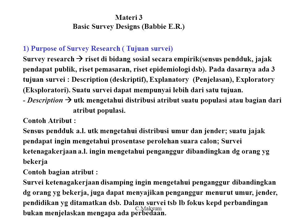 Materi 3 Basic Survey Designs (Babbie E.R.)
