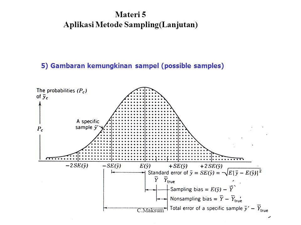 Materi 5 Aplikasi Metode Sampling(Lanjutan)