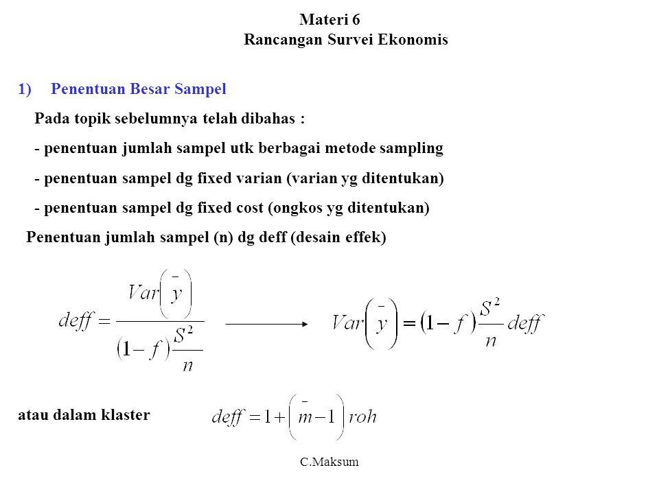Materi 6 Rancangan Survei Ekonomis
