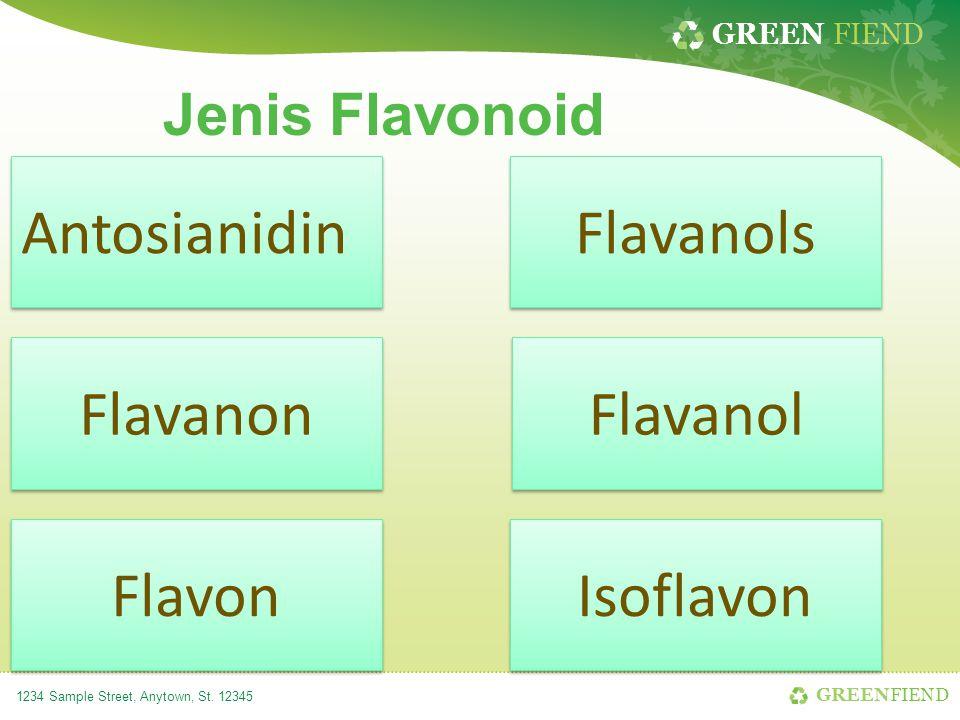 Antosianidin Flavanols Flavanon Flavanol Flavon Isoflavon
