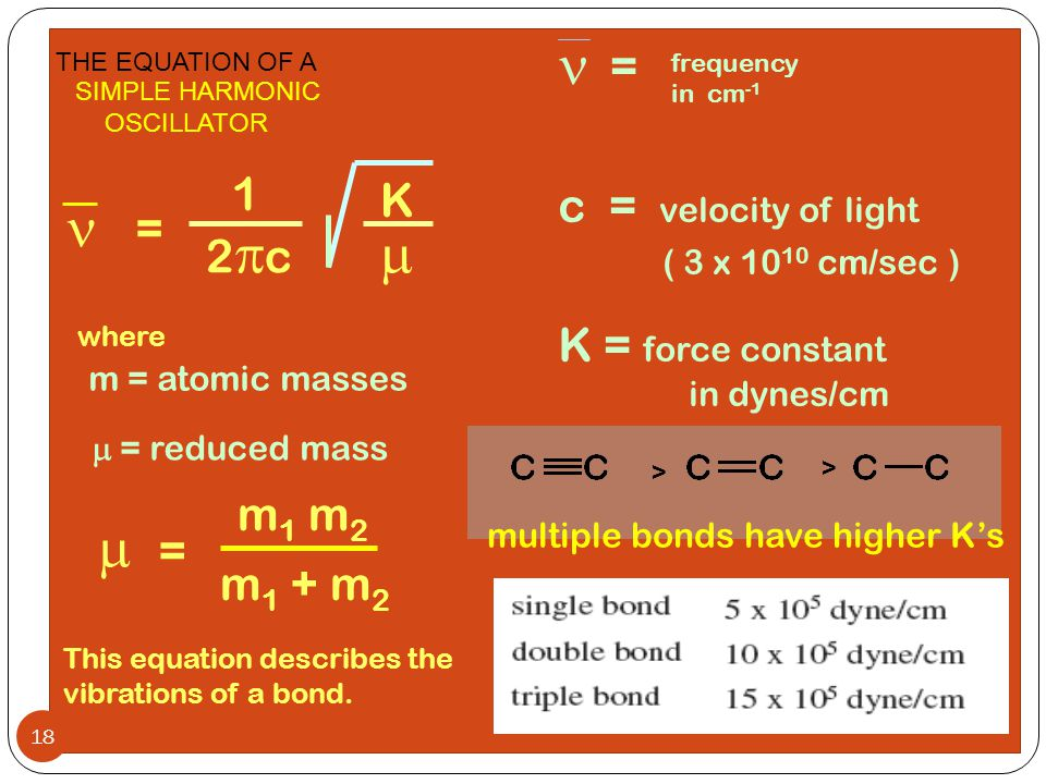 n n m m = 1 K c = velocity of light = 2pc ( 3 x 1010 cm/sec )