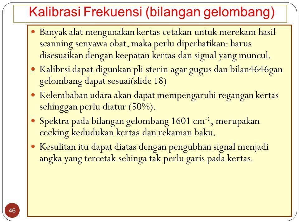 Kalibrasi Frekuensi (bilangan gelombang)