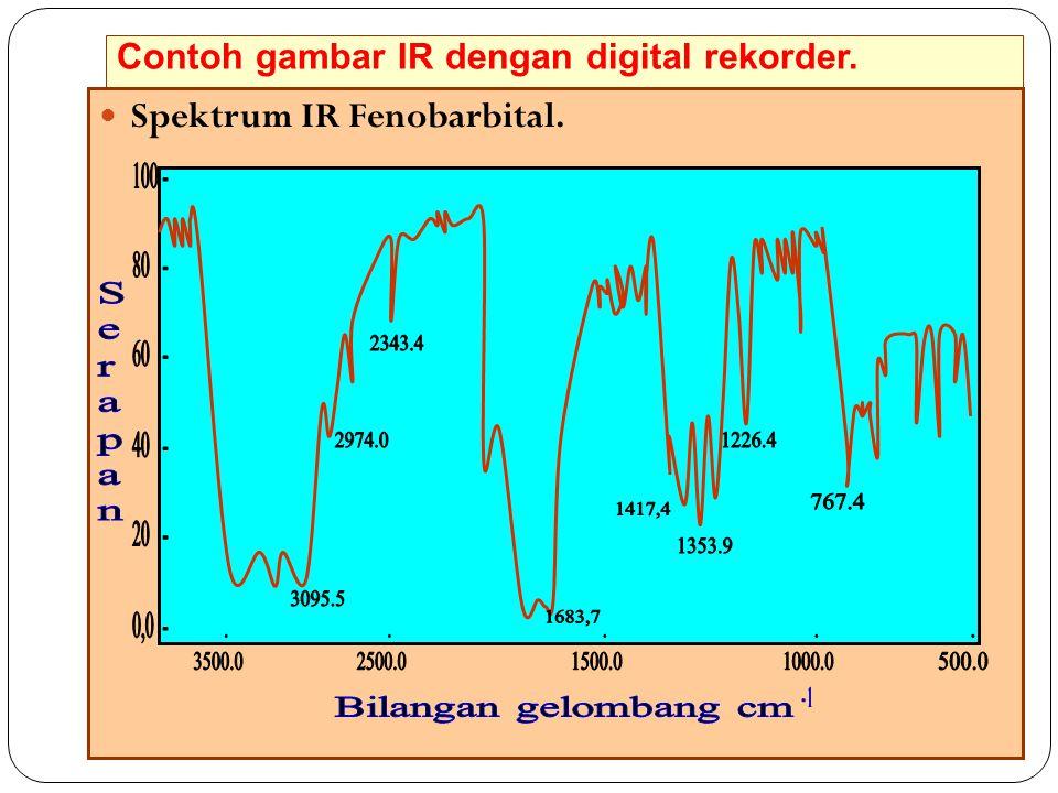 Contoh gambar IR dengan digital rekorder.