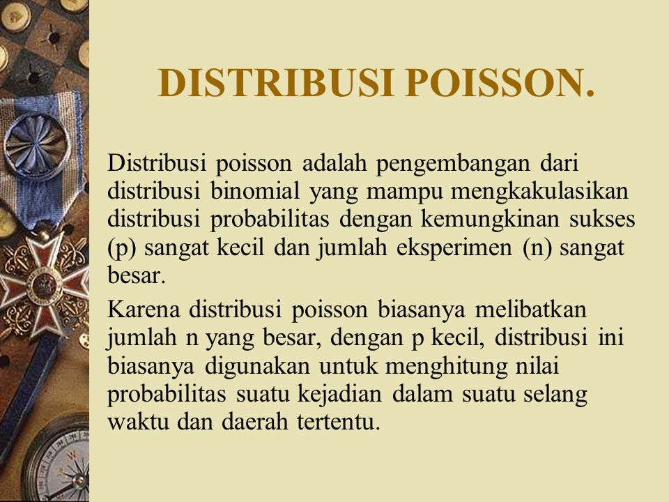DISTRIBUSI POISSON.