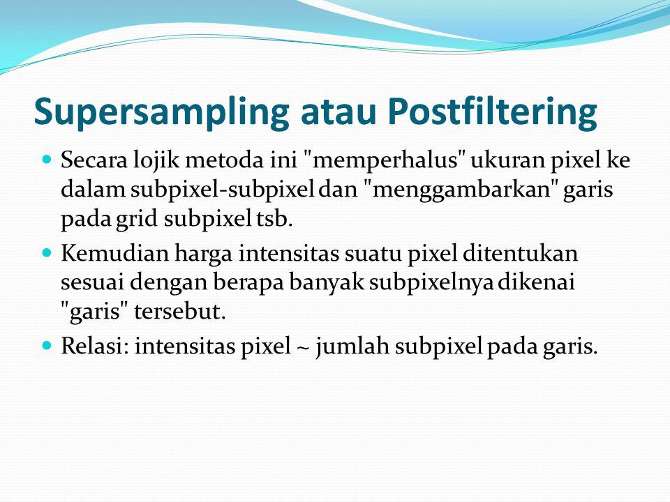 Supersampling atau Postfiltering