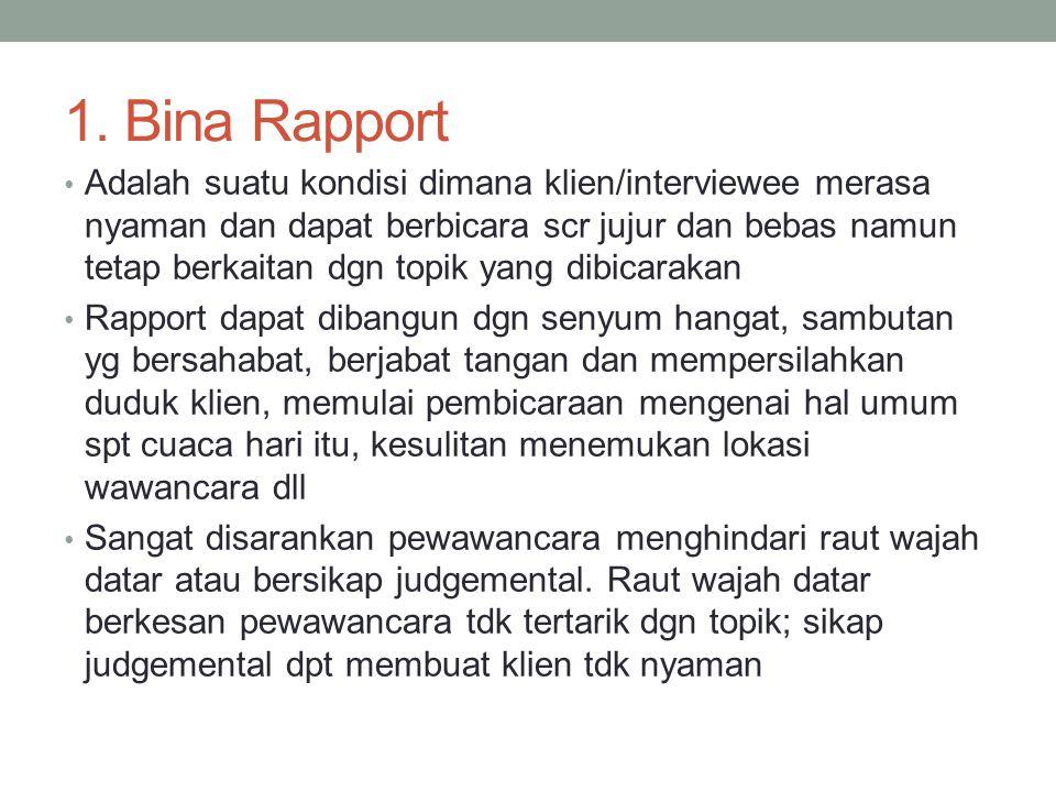 1. Bina Rapport