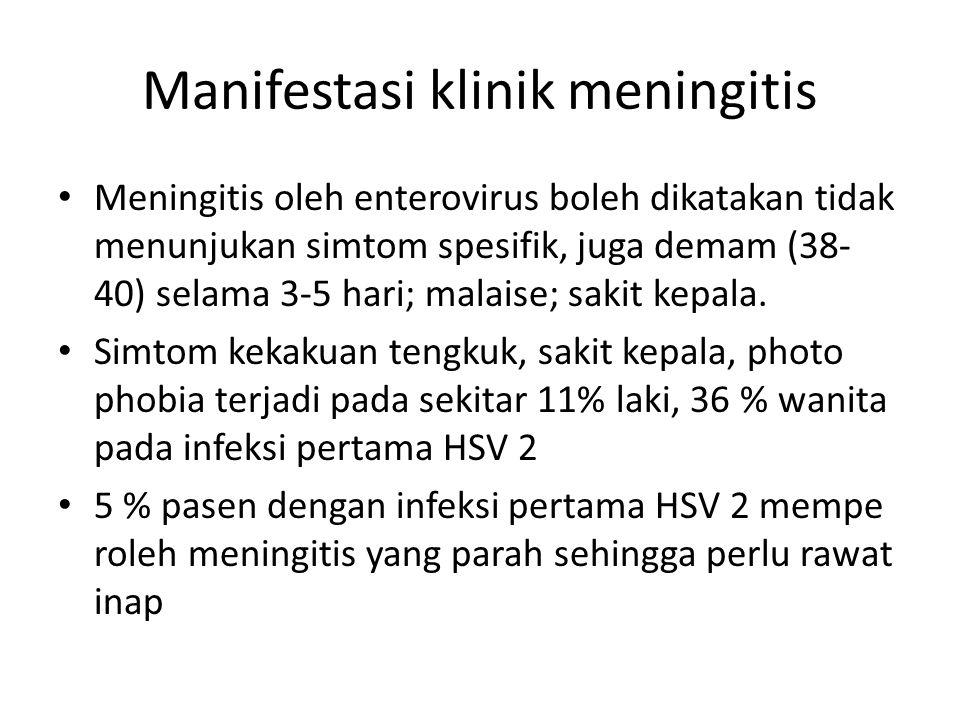 Manifestasi klinik meningitis