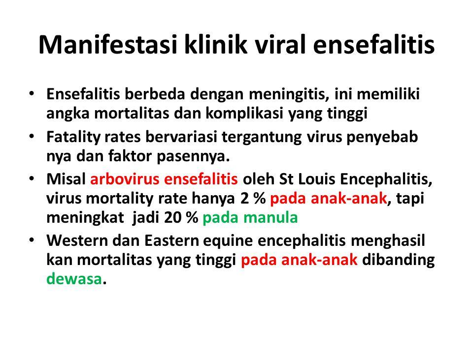 Manifestasi klinik viral ensefalitis