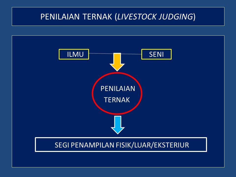 PENILAIAN TERNAK (LIVESTOCK JUDGING)
