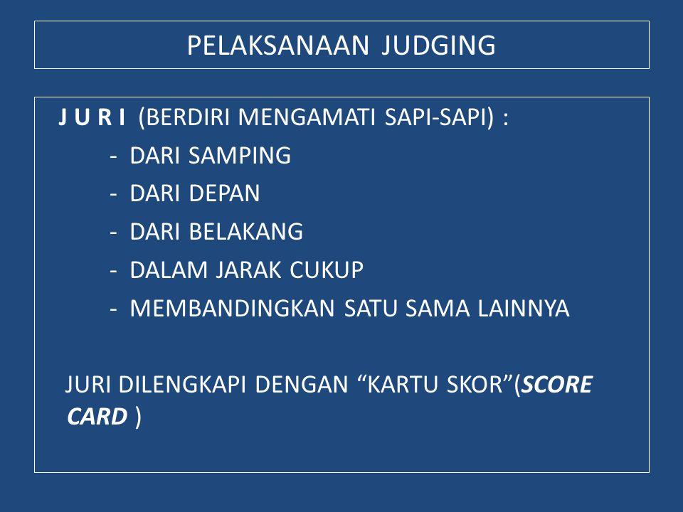 PELAKSANAAN JUDGING
