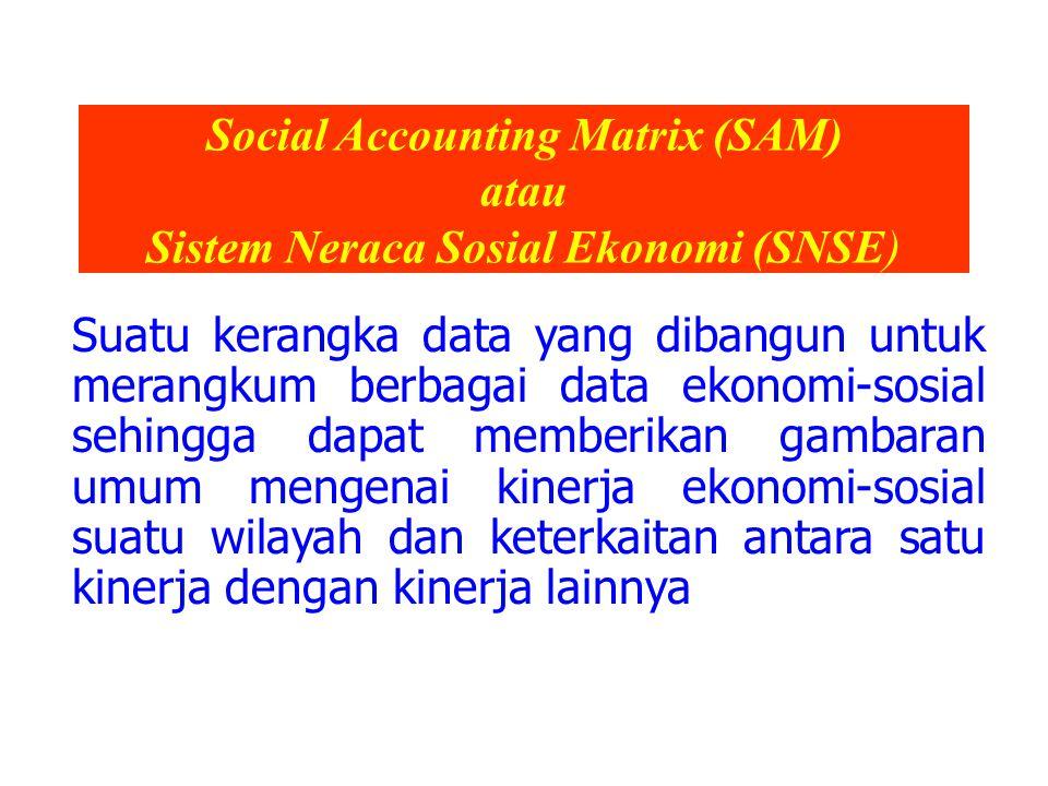 Social Accounting Matrix (SAM) atau Sistem Neraca Sosial Ekonomi (SNSE)
