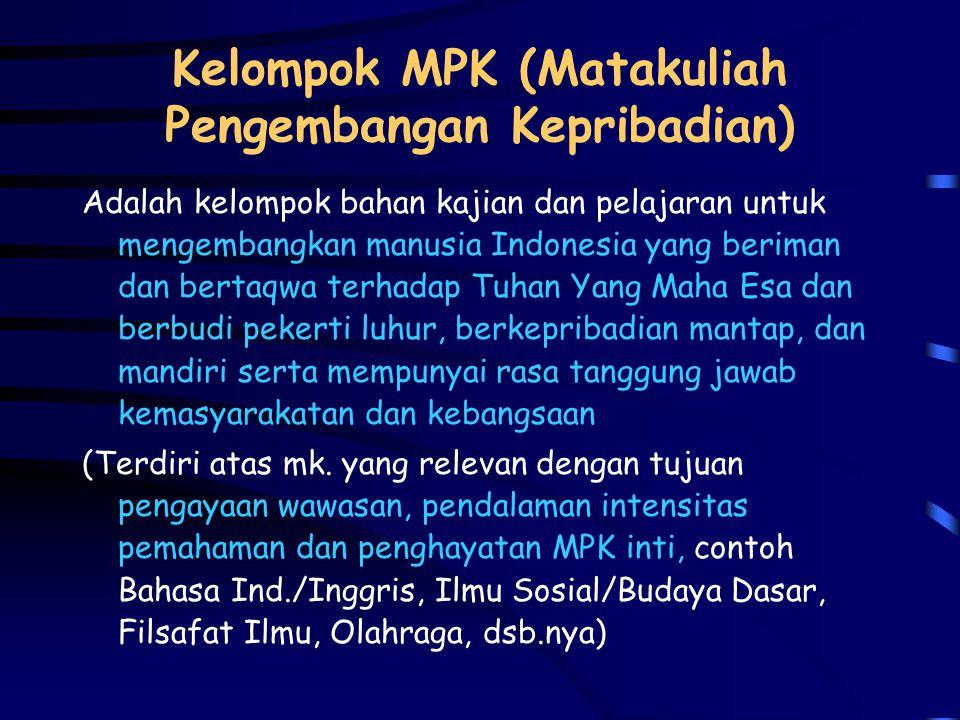 Kelompok MPK (Matakuliah Pengembangan Kepribadian)