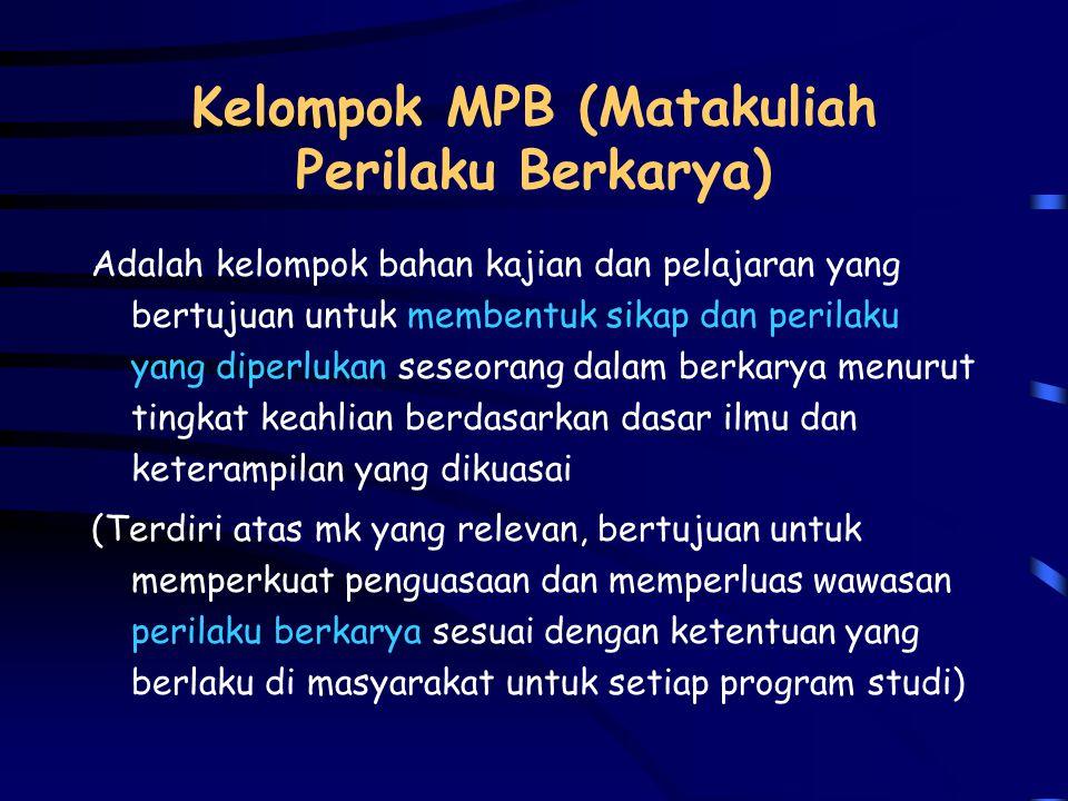 Kelompok MPB (Matakuliah Perilaku Berkarya)