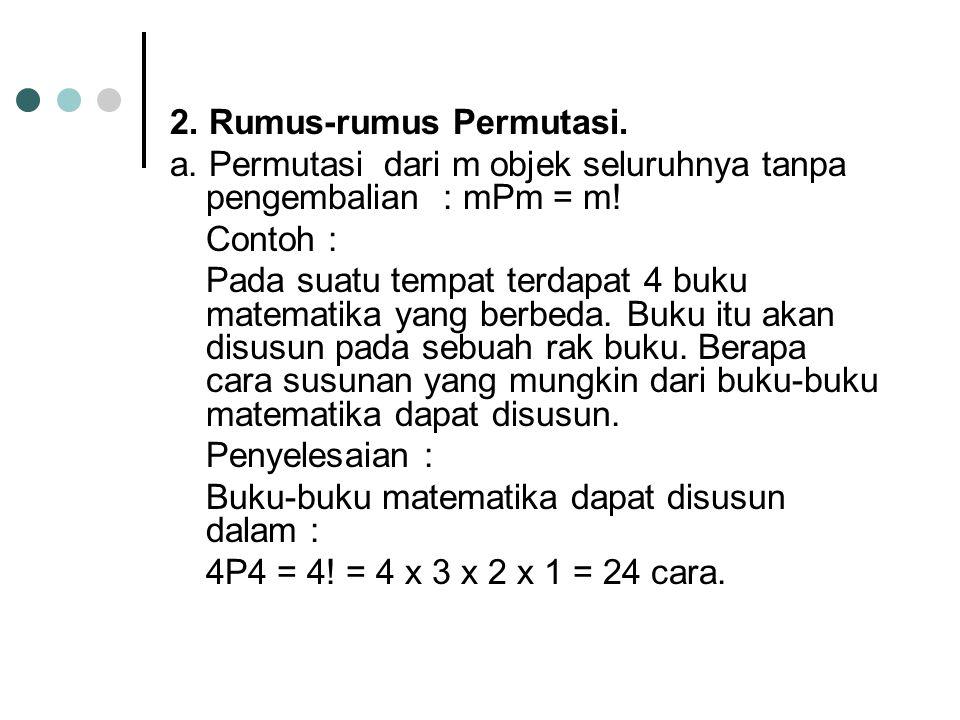2. Rumus-rumus Permutasi.