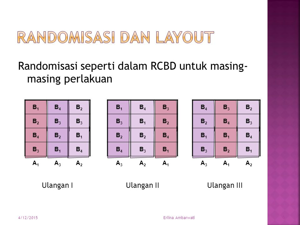 Randomisasi dan Layout
