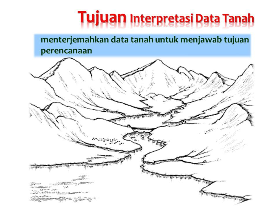 Tujuan Interpretasi Data Tanah