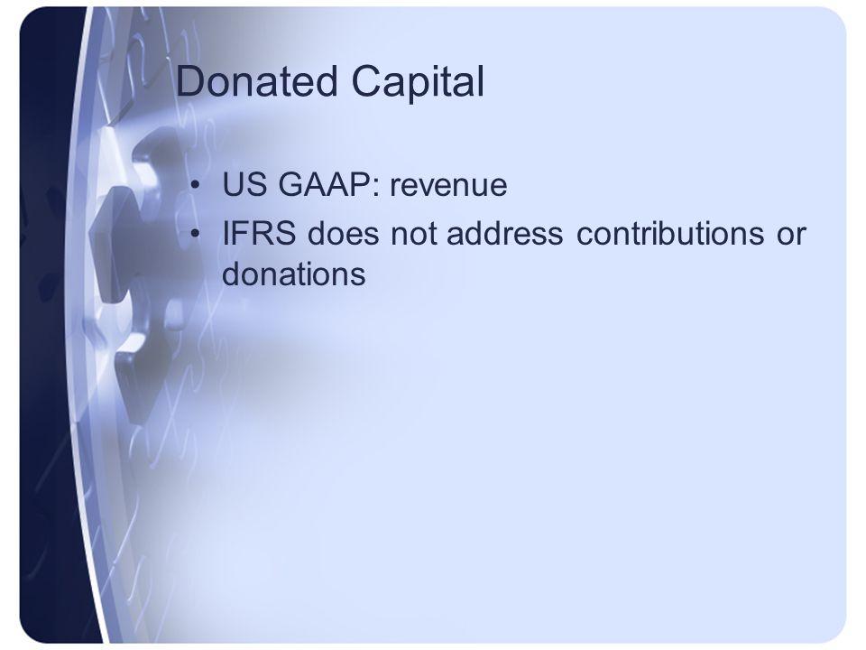 Donated Capital US GAAP: revenue