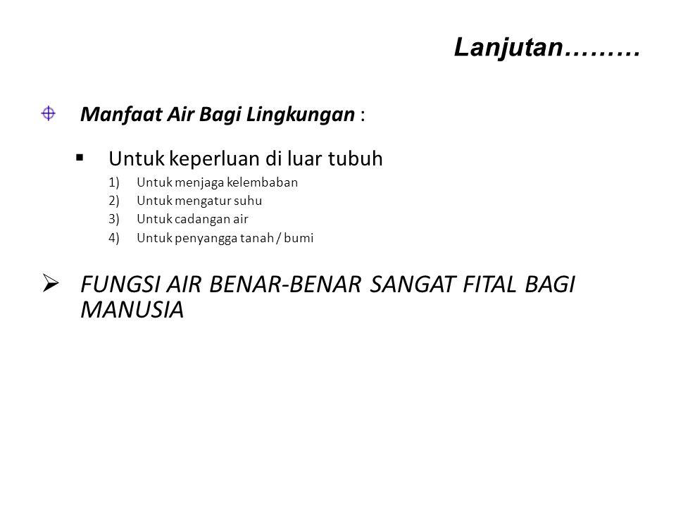 FUNGSI AIR BENAR-BENAR SANGAT FITAL BAGI MANUSIA
