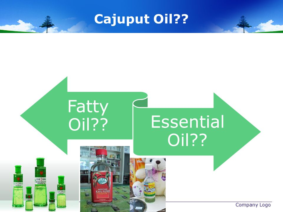 Cajuput Oil www.themegallery.com Company Logo Fatty Oil