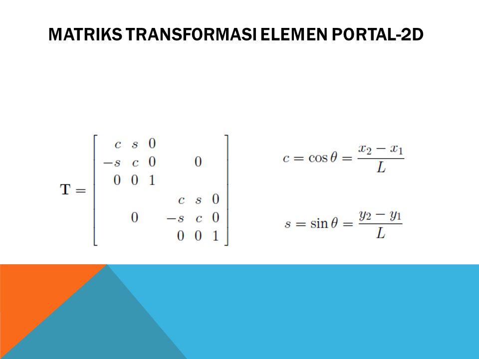 MATRIKS TRANSFORMASI ELEMEN PORTAL-2D