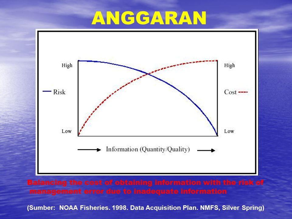 ANGGARAN Balancing the cost of obtaining information with the risk of