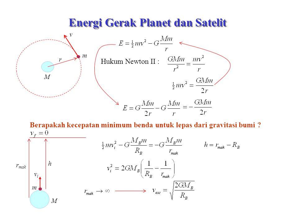 Energi Gerak Planet dan Satelit