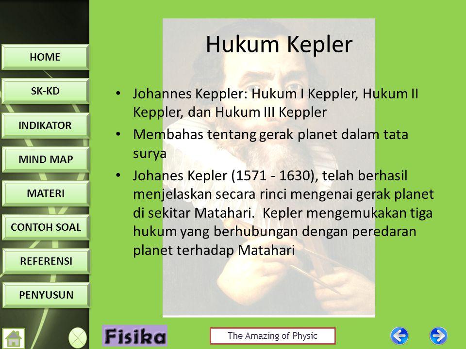 Hukum Kepler Johannes Keppler: Hukum I Keppler, Hukum II Keppler, dan Hukum III Keppler. Membahas tentang gerak planet dalam tata surya.