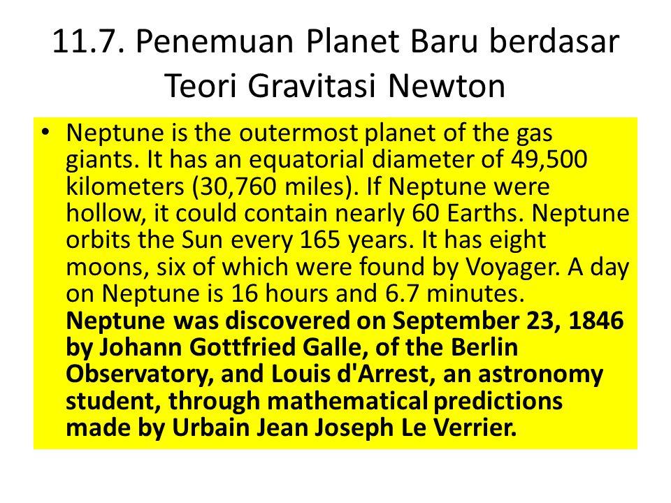 11.7. Penemuan Planet Baru berdasar Teori Gravitasi Newton