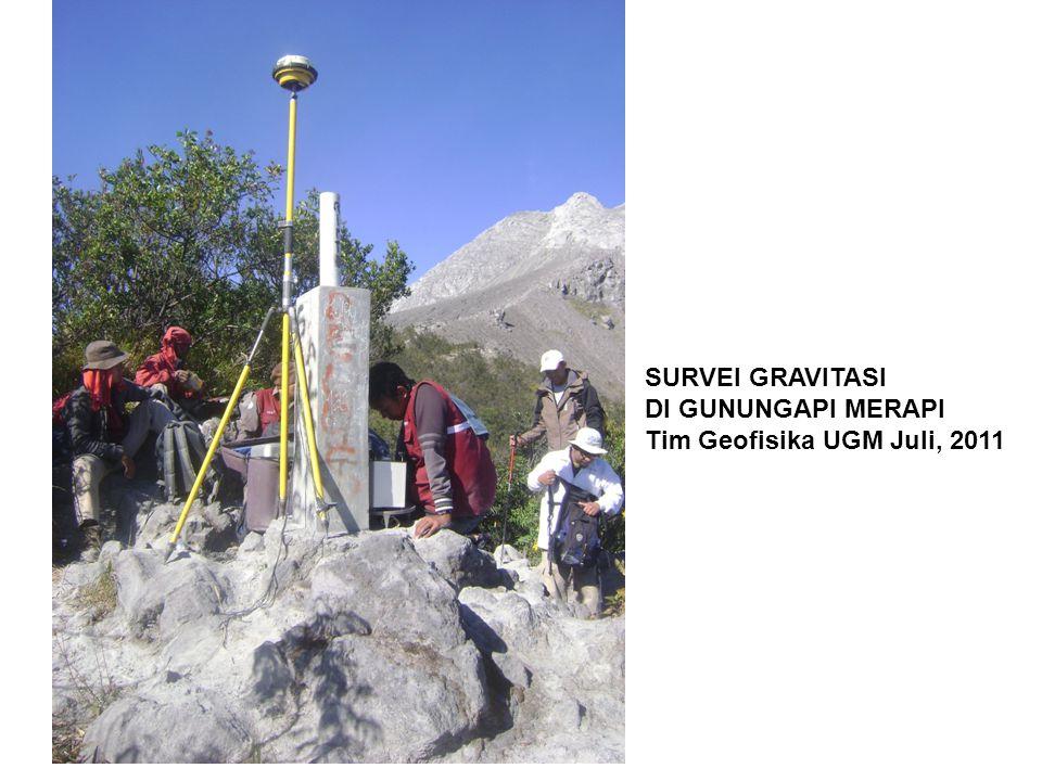 SURVEI GRAVITASI DI GUNUNGAPI MERAPI Tim Geofisika UGM Juli, 2011