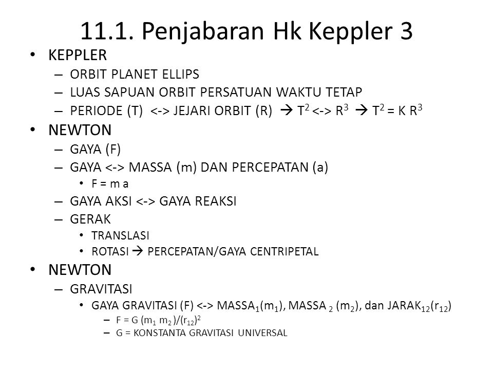 11.1. Penjabaran Hk Keppler 3 KEPPLER NEWTON ORBIT PLANET ELLIPS