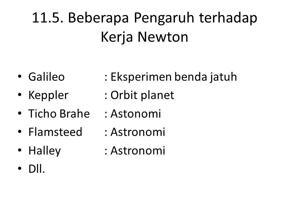 11.5. Beberapa Pengaruh terhadap Kerja Newton