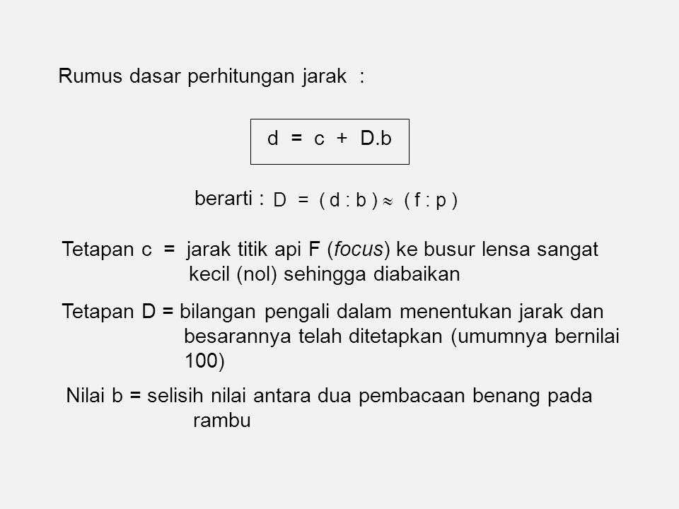 Rumus dasar perhitungan jarak :