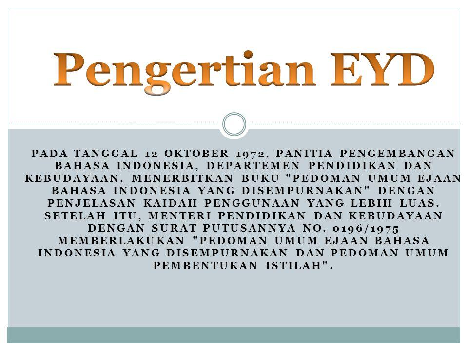 Pengertian EYD