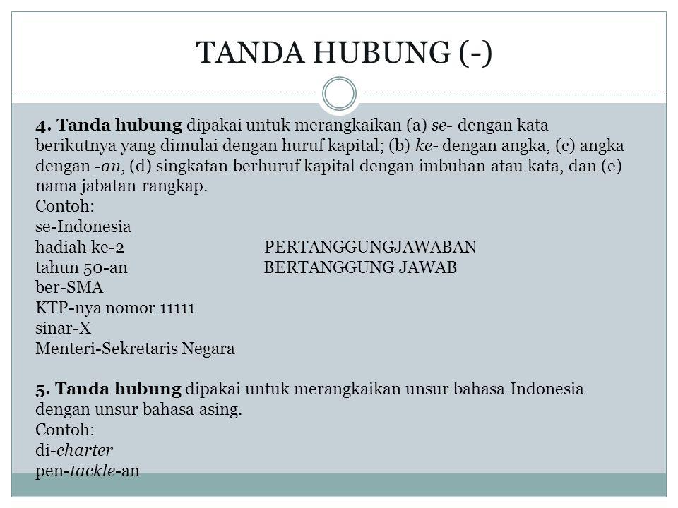 TANDA HUBUNG (-)