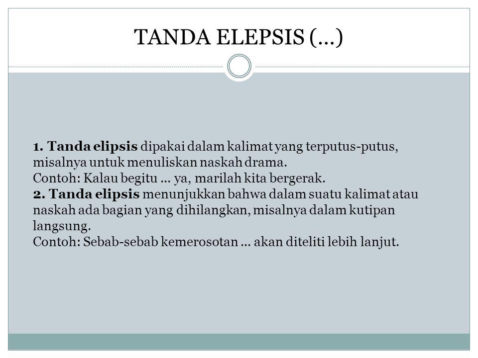 TANDA ELEPSIS (…)