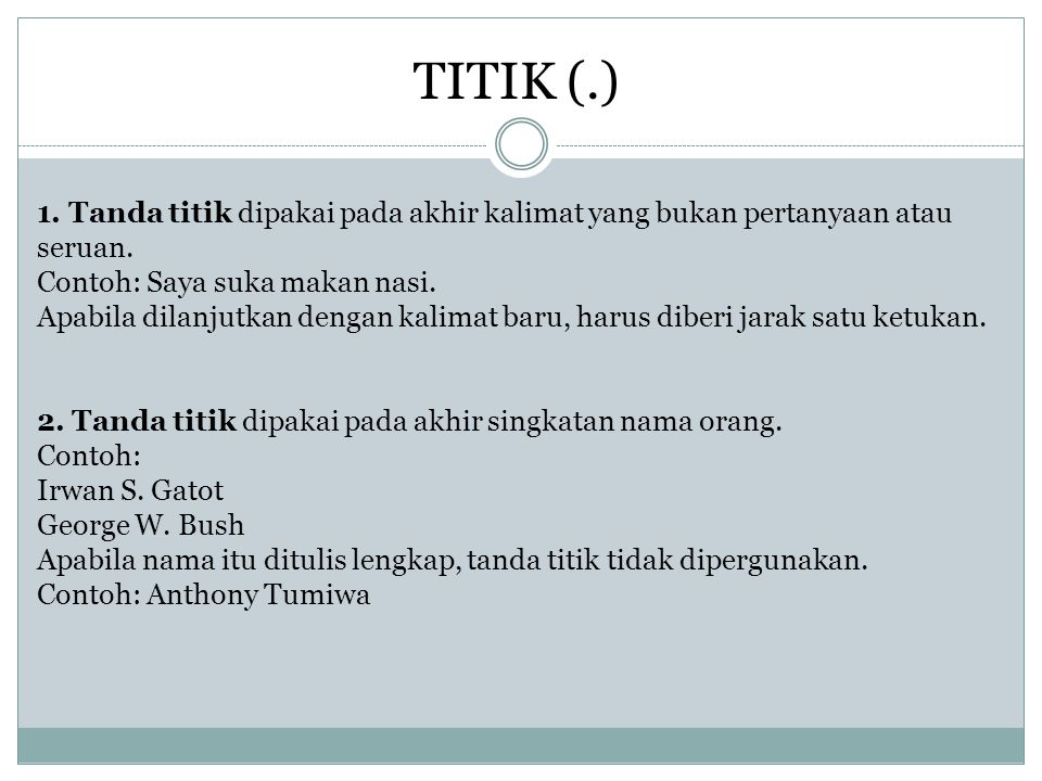 TITIK (.)