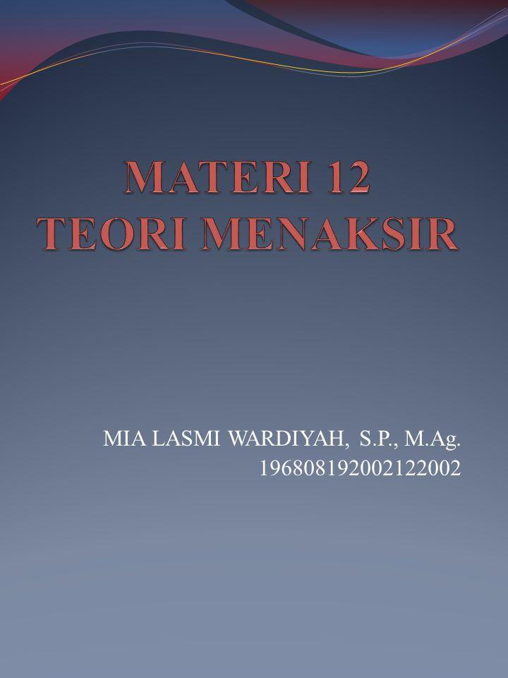 MIA LASMI WARDIYAH, S.P., M.Ag. 196808192002122002