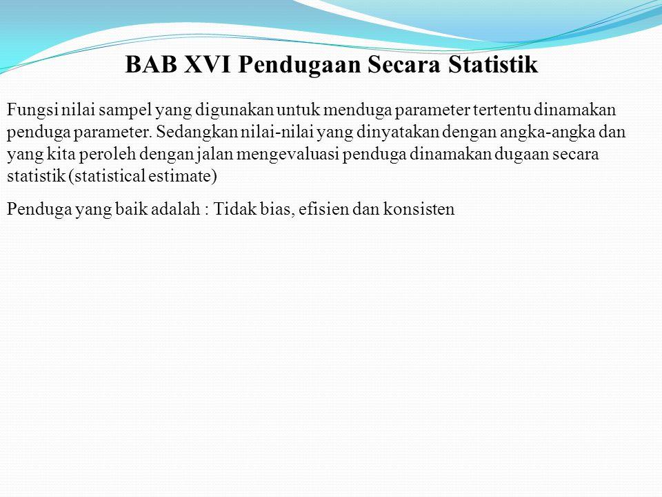 BAB XVI Pendugaan Secara Statistik
