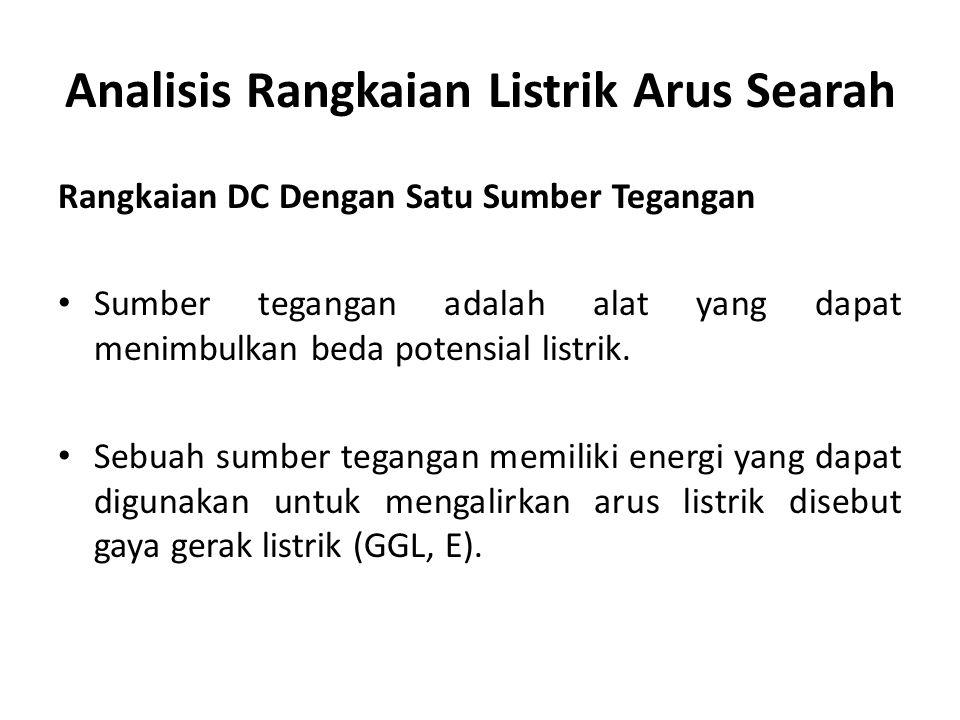 Analisis Rangkaian Listrik Arus Searah