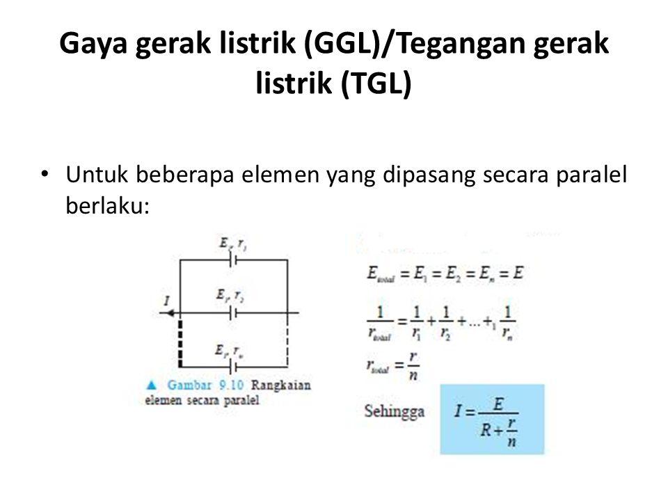 Gaya gerak listrik (GGL)/Tegangan gerak listrik (TGL)