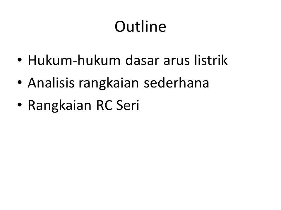 Outline Hukum-hukum dasar arus listrik Analisis rangkaian sederhana